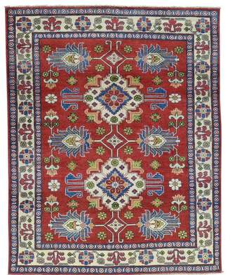 Blue Area Millwood Pines One-of-a-Kind Tillotson Hand-Knotted Red/Denim Rug