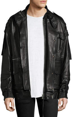 Diesel Black Gold Lesurvy Leather Jacket