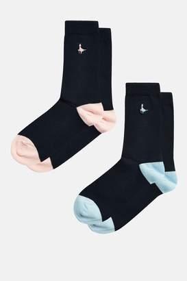 Jack Wills Beech Plain 2 Pack Socks