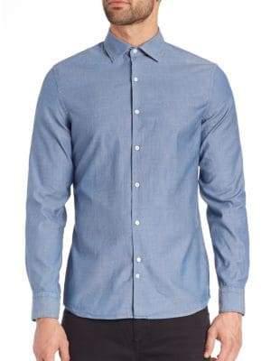 J. Lindeberg Slim-Fit Button-Up Shirt