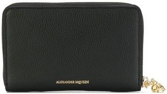 Alexander McQueen zip-around skull purse