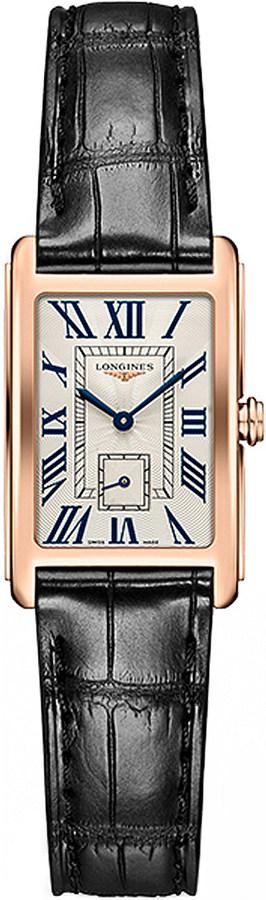 LonginesLongines L5.255.8.71.0 Dolcevita rose gold and alligator watch