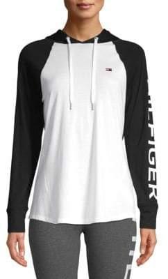 Tommy Hilfiger Hooded Raglan Sleeve Pullover
