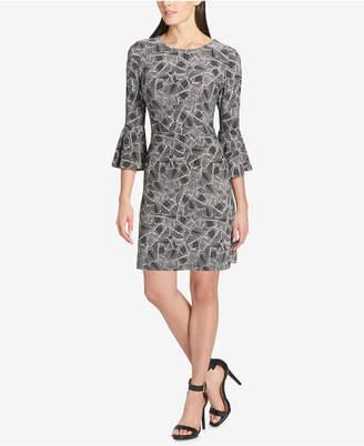 Tommy Hilfiger Printed Bell-Sleeve Dress
