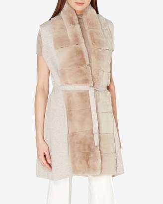 N.Peal Long Fur Placket Milano Cashmere Vest