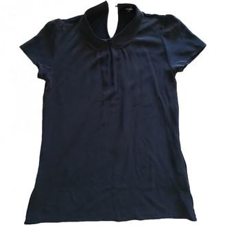 Hallhuber Blue Silk Top for Women