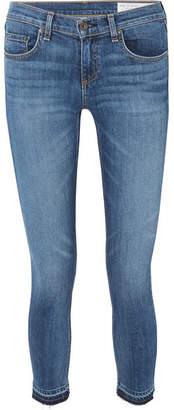 Rag & Bone Dre Capri Distressed Mid-rise Skinny Jeans - Mid denim