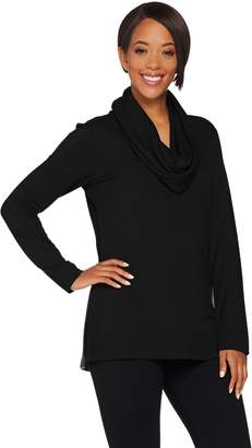 Kelly By Clinton Kelly Kelly by Clinton Kelly Brushed Back Jersey Tunic w/ Removable Scarf