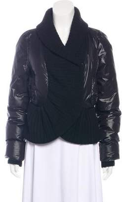 Givenchy Puffer Knit-Trimmed Jacket