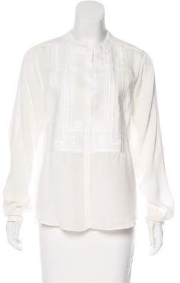 A.L.C. Silk Embroidered Blouse