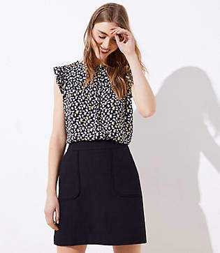 ade575b0b LOFT Petite Pocket Shift Skirt