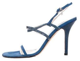 Christian Dior Stingray & Suede Sandals