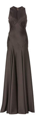 Zac Posen Solid Satin Back Crepe Gown
