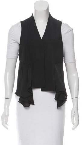 Alexander Wang Alexander Wang Pleat-Accented Button-Up Vest
