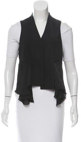 Alexander WangAlexander Wang Pleat-Accented Button-Up Vest