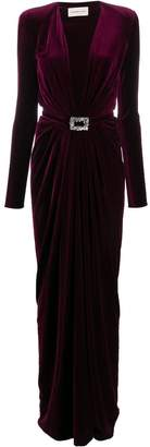 Alexandre Vauthier plunge neck belted gown