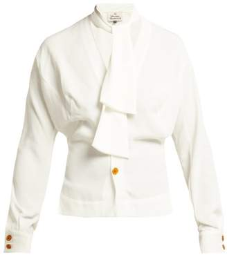 Vivienne Westwood Wilma Crepe De Chine Blouse - Womens - White