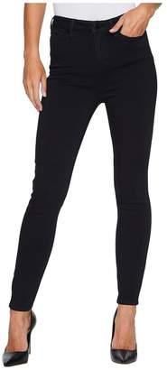 Liverpool Bridget High Waist Ankle in Soft Silky Denim in Indigo Overdyed Black Women's Jeans