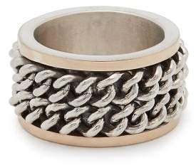 Alan Crocetti - Andromeda Double Chain Ring - Mens - Silver Multi