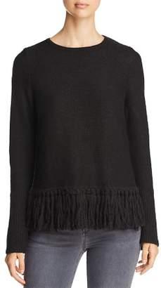 Design History Fringed Crewneck Sweater