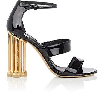 Salvatore Ferragamo Women's Caged-Heel Patent Leather Sandals