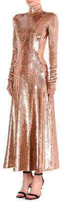 Emilio Pucci Sequined Asymmetric-Cutout Gown