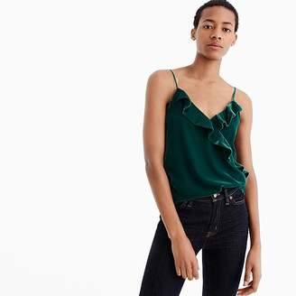 J.Crew Tall velvet going-out top