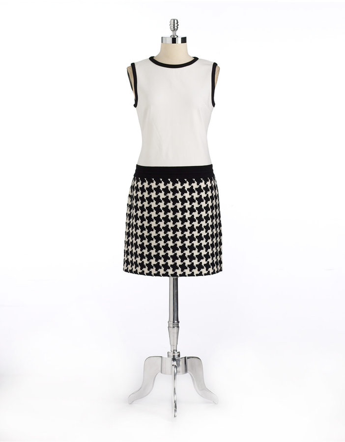 Suzi Chin FOR MAGGY BOUTIQUE Houndstooth Sleeveless Dress