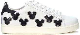 Sneaker Moa Mickey Mouse In Pelle Bianca