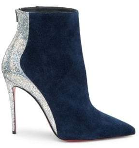 Christian Louboutin Delicotte 100 Leather& Suede Booties