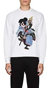 DSQUARED2 Men's Graphic-Print Cotton Fleece Sweatshirt-White Size Xs