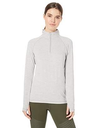 Danskin Women's Active 1/4 Zip Wicking Pullover Top