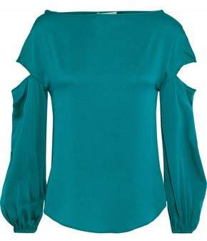 Milly Dahlia Cutout Stretch-silk Blouse
