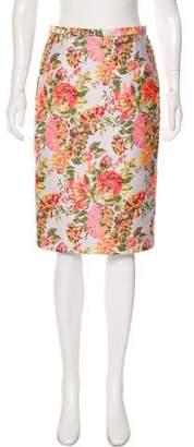 Stella McCartney Floral Print Pencil skirt