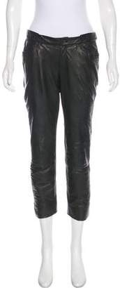 Theyskens' Theory Low-Rise Leather Pants