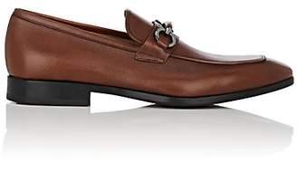 Salvatore Ferragamo Men's Benford Textured Leather Loafers - Med. brown