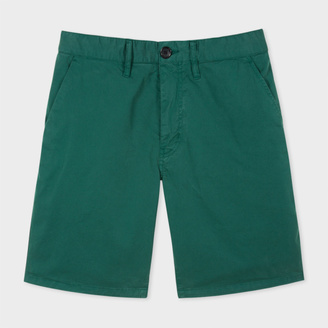 Men's Green Garment-Dyed Stretch Pima-Cotton Shorts $170 thestylecure.com