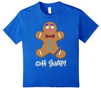 Oh Snap Shirt Funny Gingerbread Man Christmas T-Shirt Gift