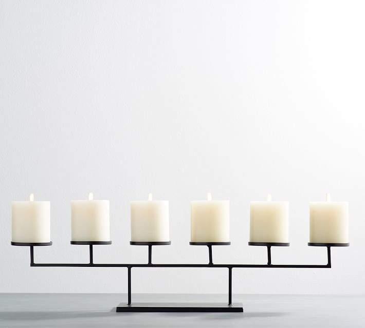 Row Centerpiece Pillar Candleholders
