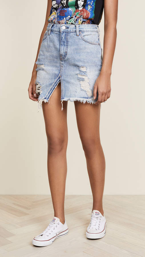Relaxed & Destroyed Skirt