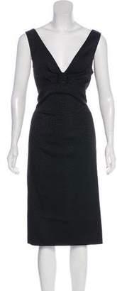 St. John Sleeveless Midi Dress w/ Tags