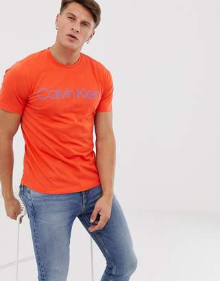 Calvin Klein logo front t-shirt in orange