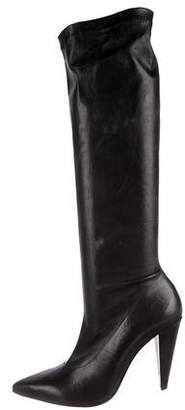 Robert Clergerie Pointed-Toe Knee-High Boots