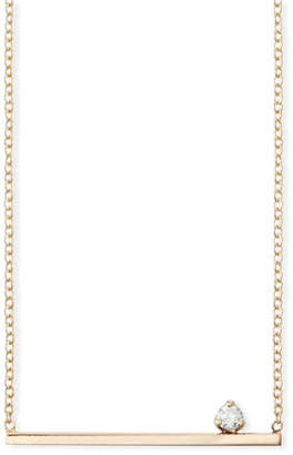 Chicco Zoe 14k Straight Bar Necklace w/ Diamond