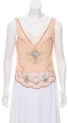 Just Cavalli Embellished Sleeveless Blouse