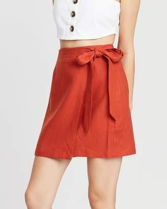 Gemma Wrap Mini Skirt
