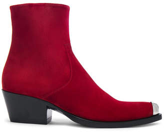 Calvin Klein Suede Tex Chiara Ankle Boots
