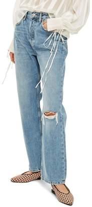 Topshop One Rip New Boyfriend Jeans