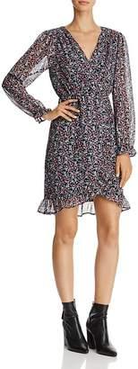 Beltaine Crossover-Bodice Chiffon Dress