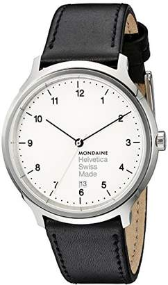 Mondaine Unisex MH1.R2210.LB Helvetica No1 Regular Analog Swiss Quartz Leather Watch